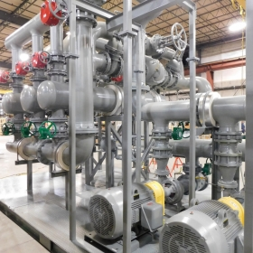 Steam to Hot Water System